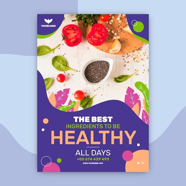 Шаблон меню ресторана здорового питания Бесплатные векторы