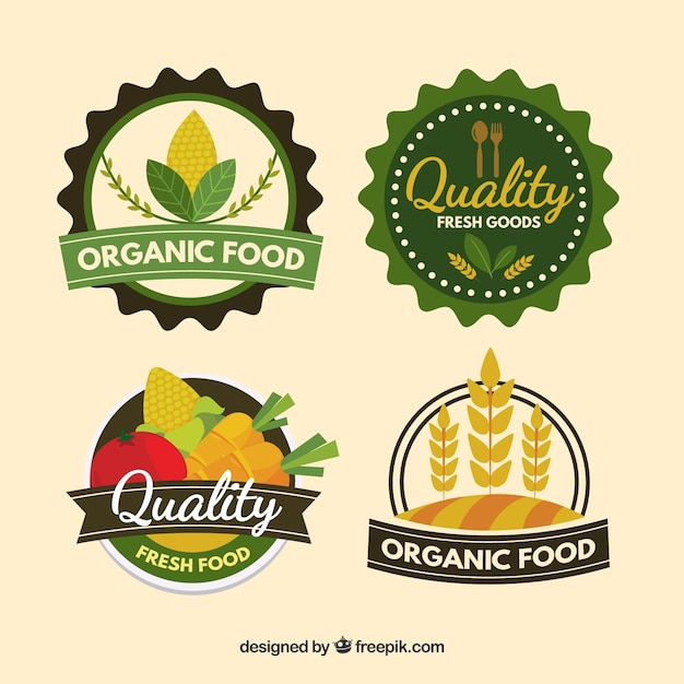 Healthy food\'s logo collection