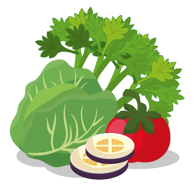 Healthy food vegan icons Vector | Premium Download
