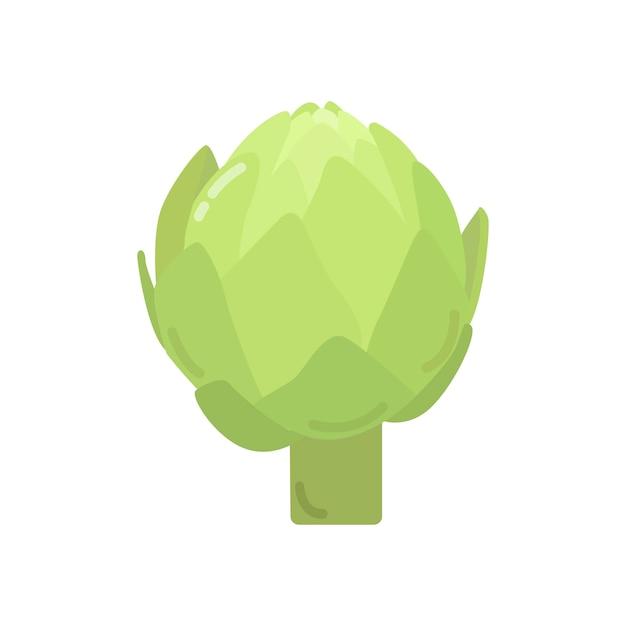 Графическая иллюстрация здорового зеленого артишока Бесплатные векторы