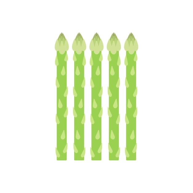 Графическая иллюстрация здоровой зеленой спаржи Бесплатные векторы