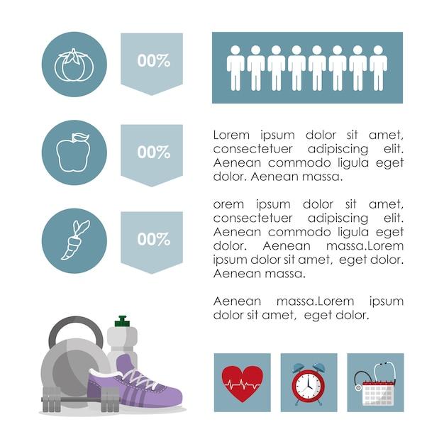 Healthy habits lifestyle infographic Premium Vector
