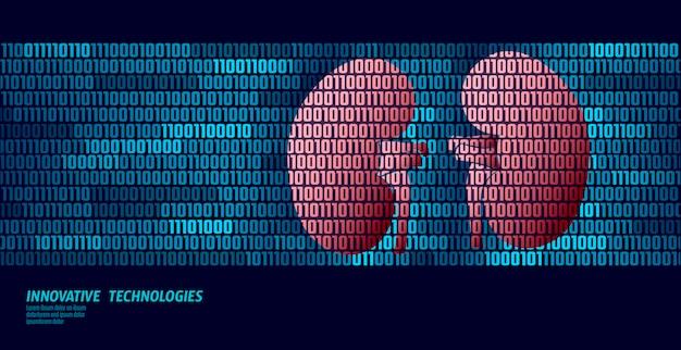 Здоровые почки, урология внутренних органов. поток данных двоичного кода. Premium векторы