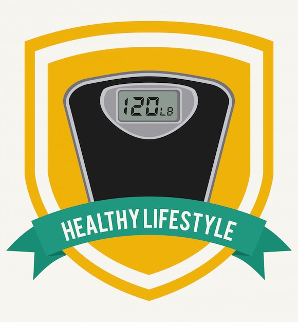 Healthy lifestyle graphic design Free Vector