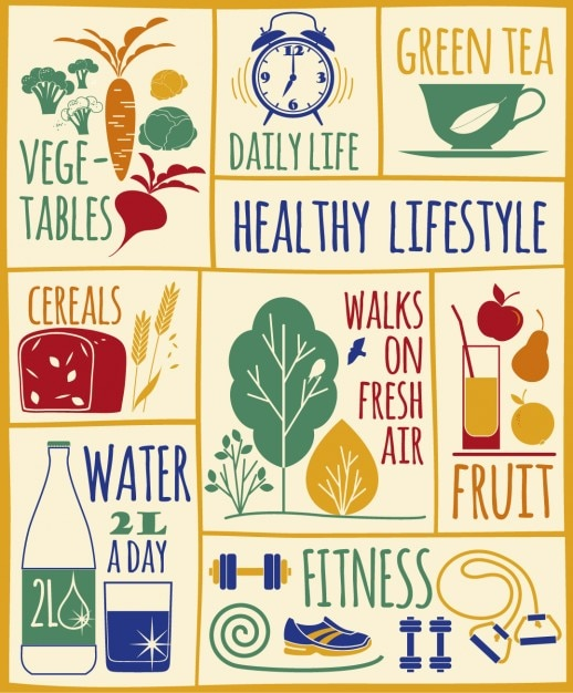 Healthy lifestyle illustration vector free download for Lift style