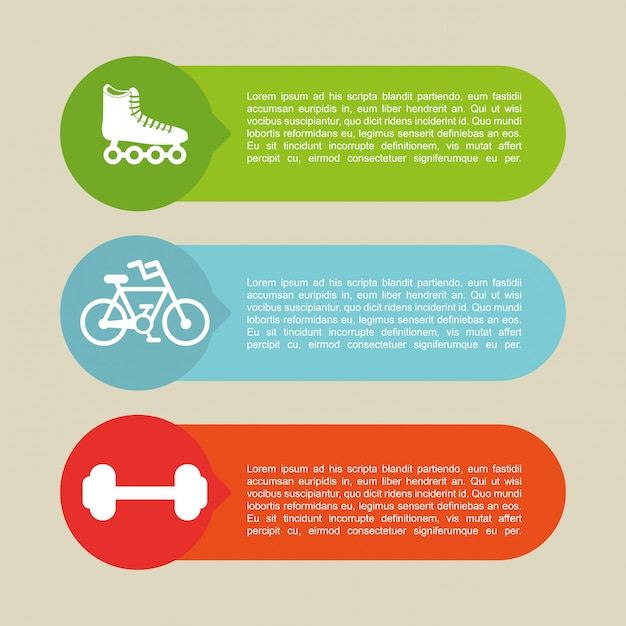 Healthy lifestyle Premium Vector