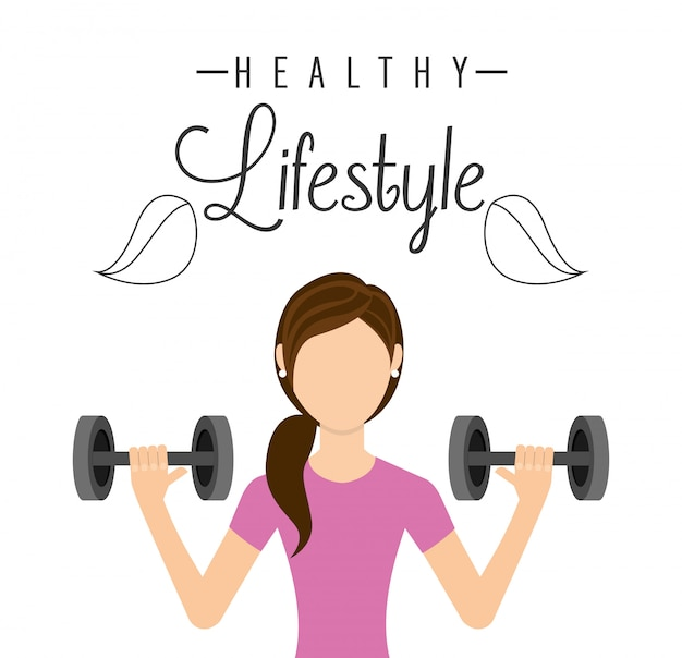 Healthy lifestyle Premium Vector