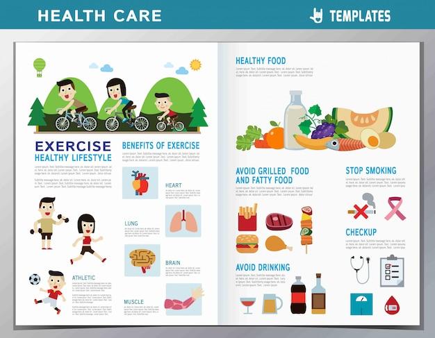Healthy people. flat cute cartoon design illustration. Premium Vector