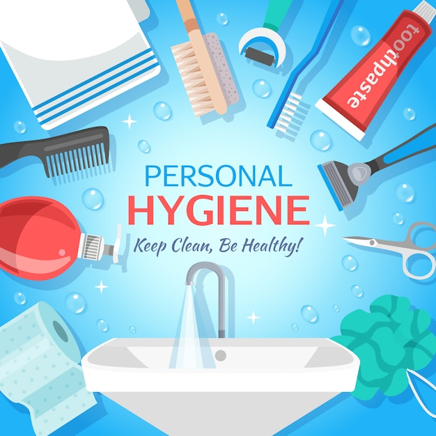 Healthy personal hygiene background Free Vector