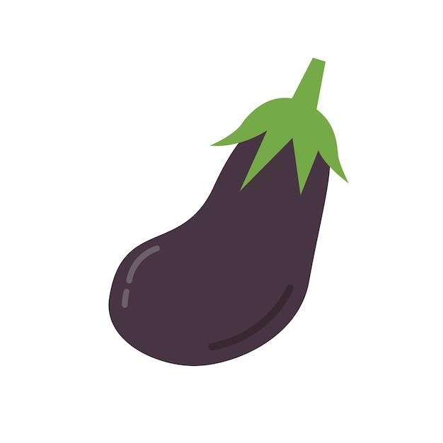 Healthy purple aubergine graphic illustration Free Vector