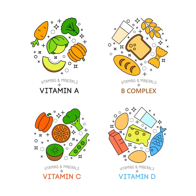 Healty food background representing. vegetables and fruits icons Free Vector