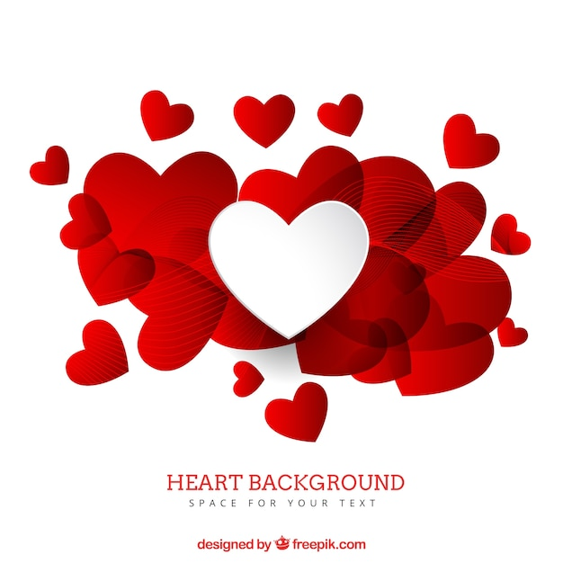 Heart Background Vector Free Download