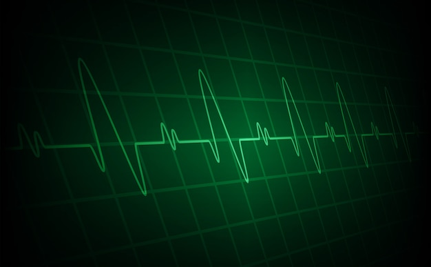 Heart beats cardiogram background Premium Vector