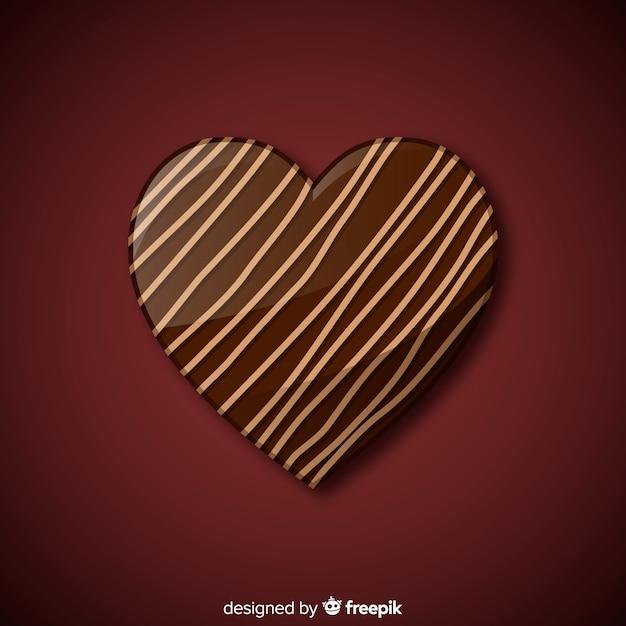 Heart bonbon background Free Vector