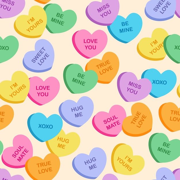 Heart cookies pattern Premium Vector