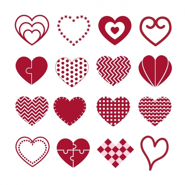 heart designs collection vector free download
