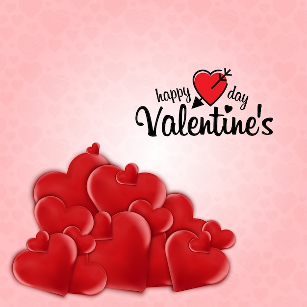Heart Frame Valentines Day Background Vector Free Download