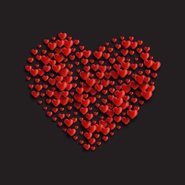 heart full of hearts vector free download
