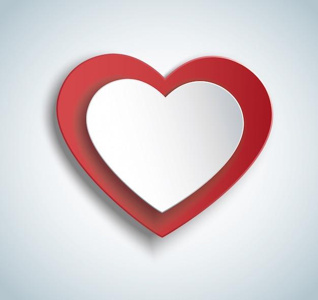 Heart in heart shape icon Premium Vector