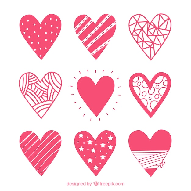 Heart Icon Set Vector   Free Download
