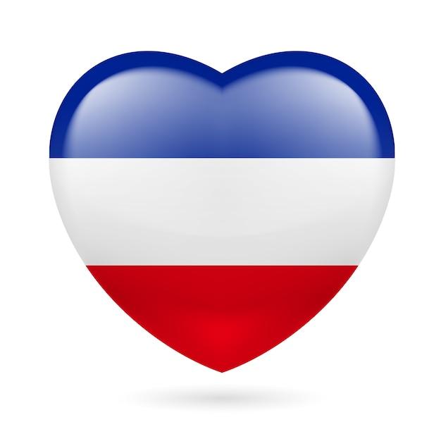 Heart icon of yugoslavia Premium Vector