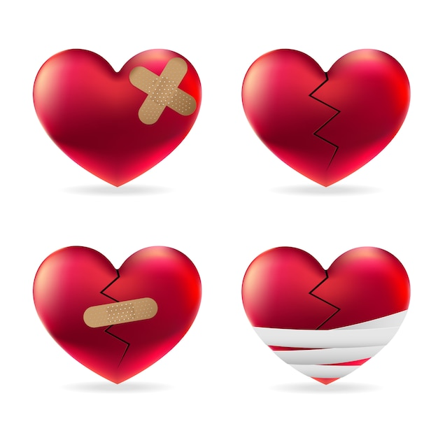 Heart injury Premium Vector