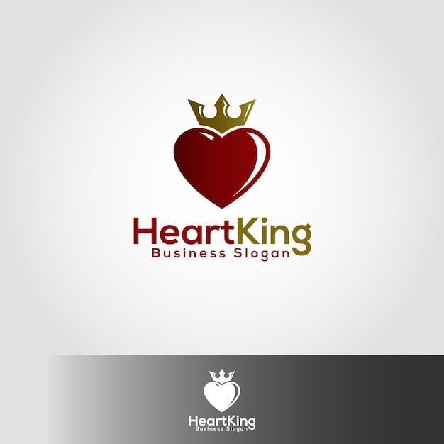 heart king conqueror of hearts logo vector premium download