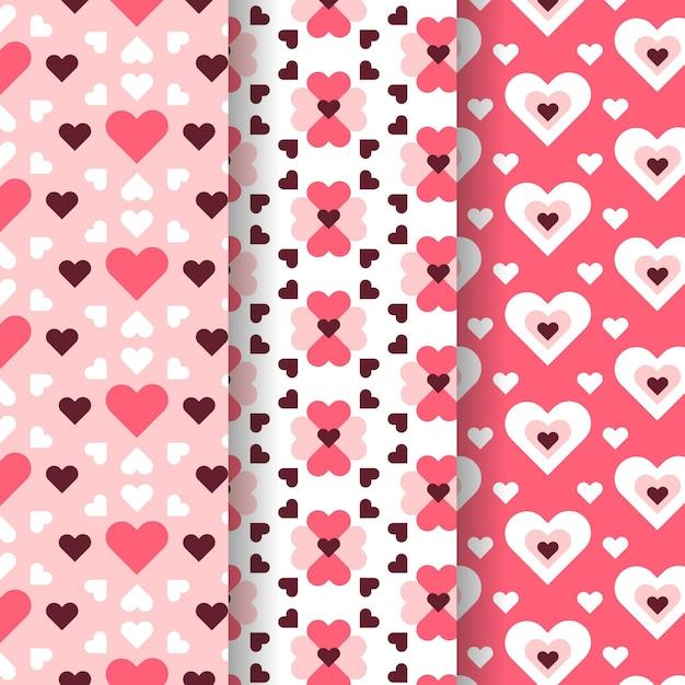 Collezione modello cuore in design piatto Vettore gratuito