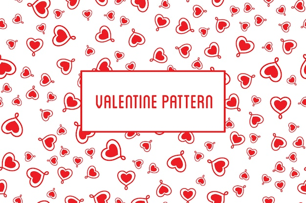 Heart pattern. Design of hand drawn hearts for St. Valentine\'s day ...