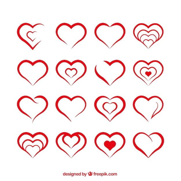 heart shapes vector free download
