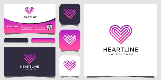 Heart symbol  icon  template elements. health care logotype concept. dating logo icon.  template. bu