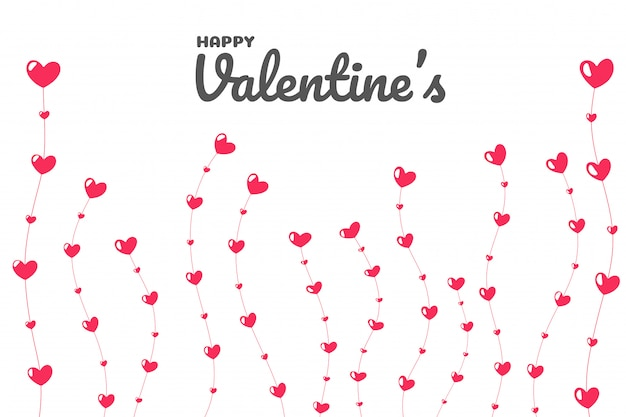 Heart tree on the day of love. the tree of love that is growing on valentine's day. Premium Vector