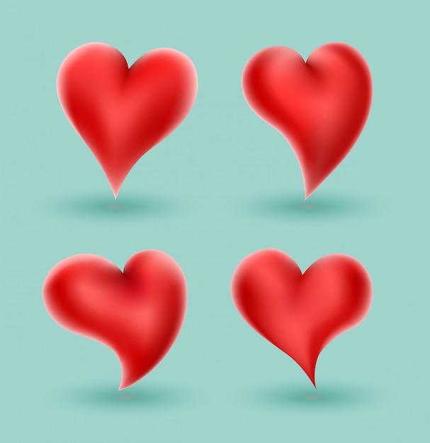 Сердце векторная иллюстрация для любви концепции свадьбы Premium векторы