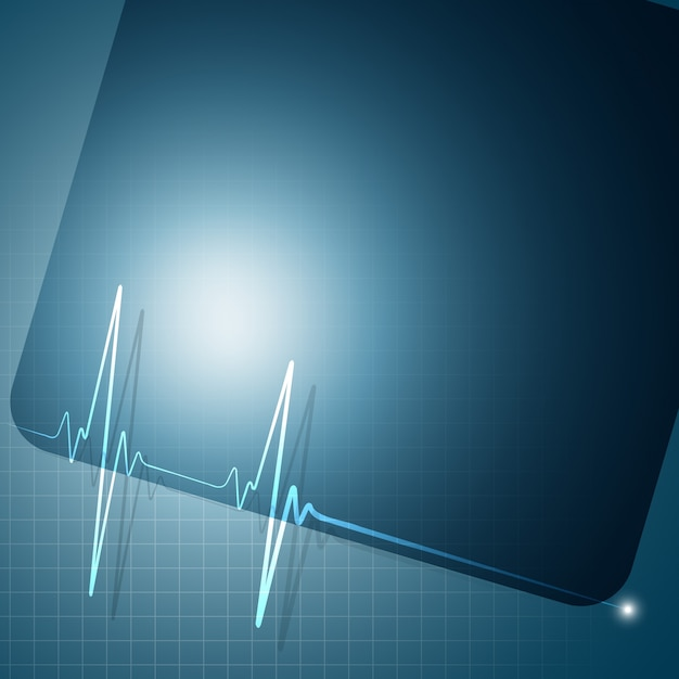 heartbeat graph background vector free download