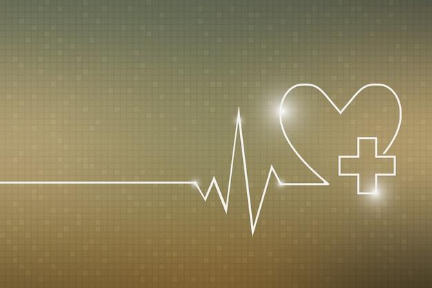 Heartbeat line heart cardio Premium Vector