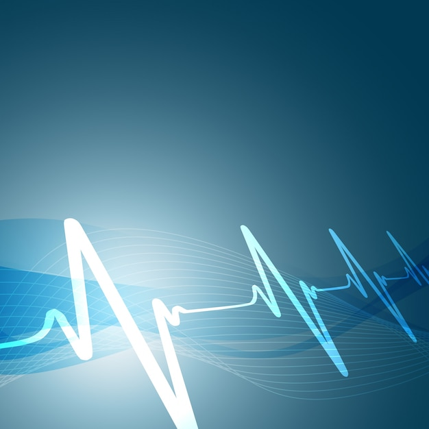 Heartbeats background Free Vector