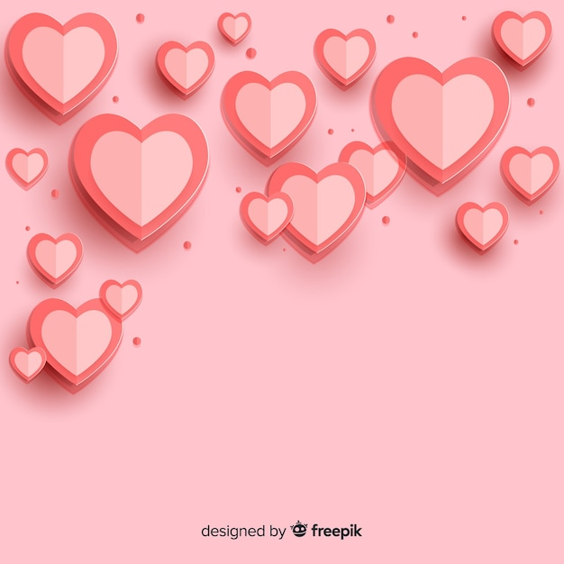 Hearts background Free Vector