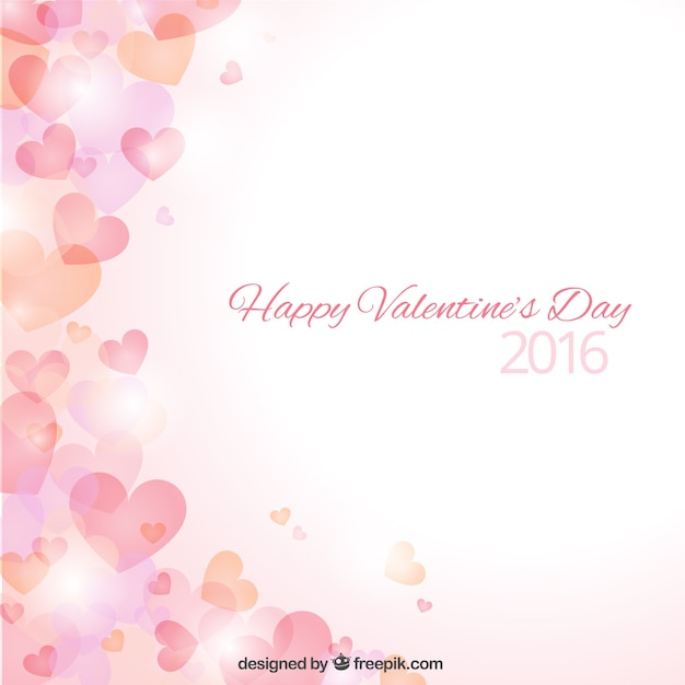 Hearts bokeh valentine day background Vector | Premium Download