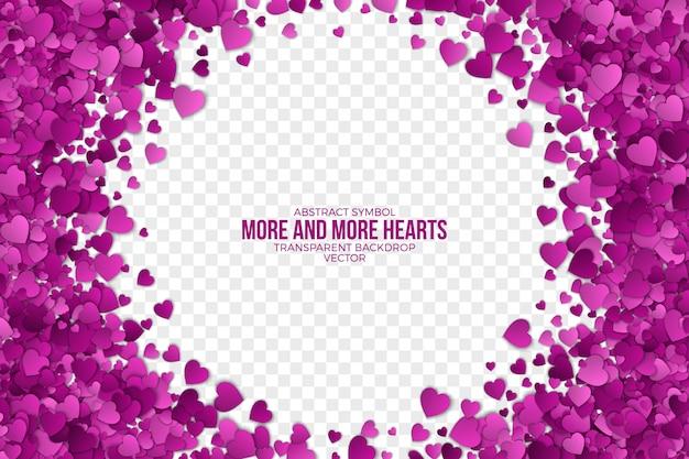 Декоративная бумага hearts frame абстрактный фон Premium векторы