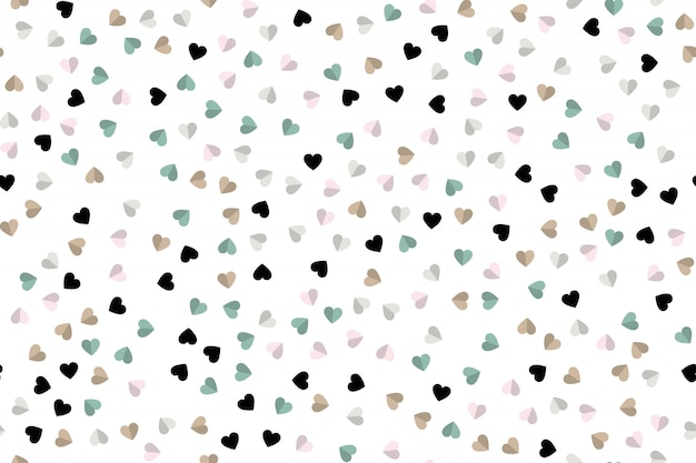 Hearts icon background. flat style Premium Vector