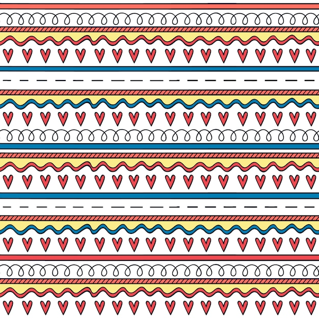 Hearts pattern background Free Vector