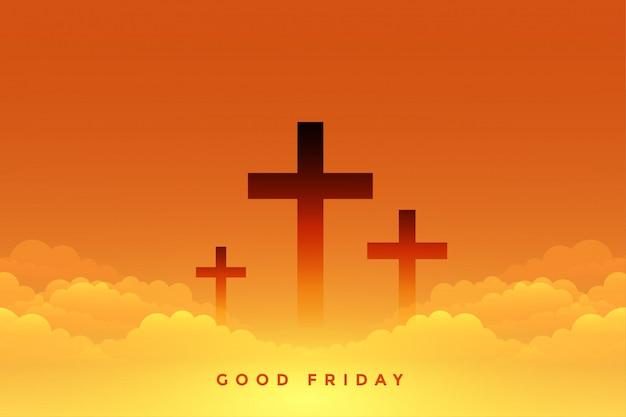 クロスシンボルと良い金曜日の天の意味 無料ベクター