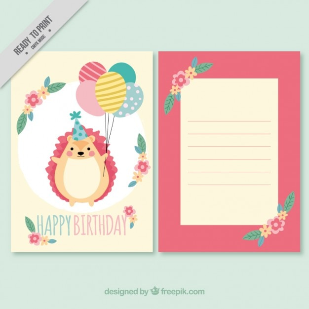 Hedgehog with balloons birthday invitation vector free download hedgehog with balloons birthday invitation free vector stopboris Gallery