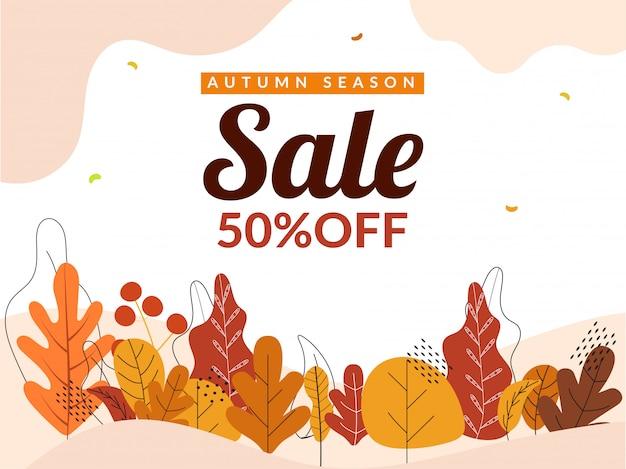 Hello autumn background. Premium Vector