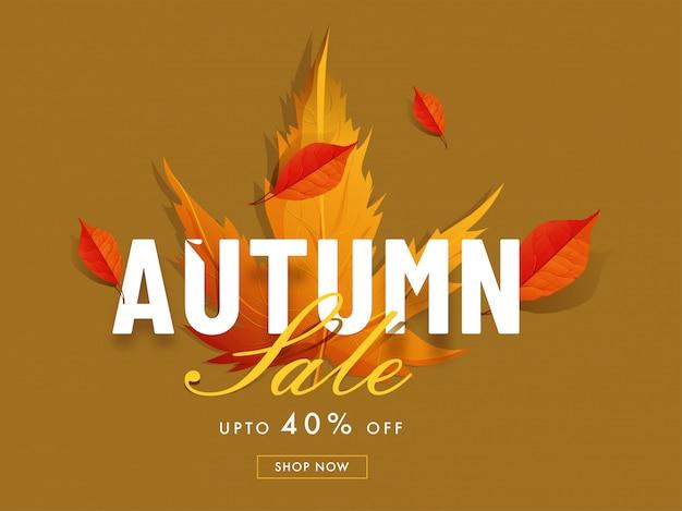 Hello autumn sale background. Premium Vector