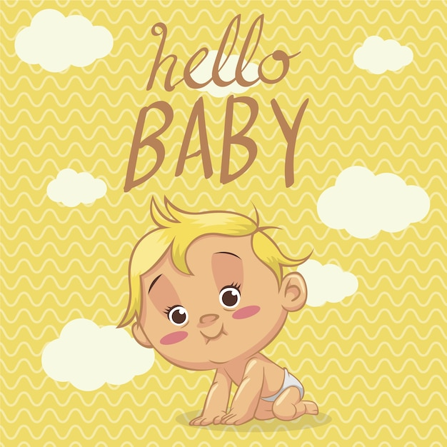 hi baby images hello baby background vector free download 1022
