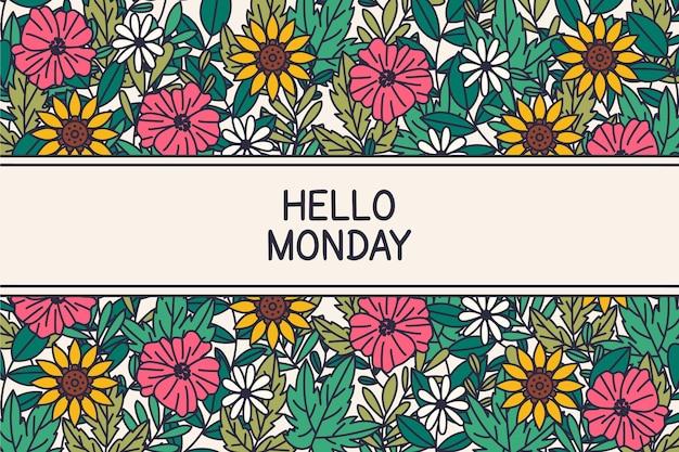 Привет, понедельник - фон Бесплатные векторы