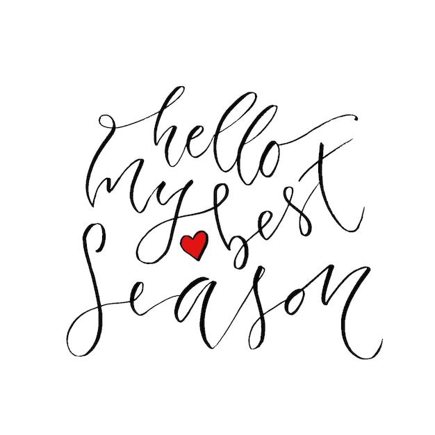 Hello my best season modern calligraphy design hand drawn hello my best season modern calligraphy design hand drawn lettering of season greetings card m4hsunfo