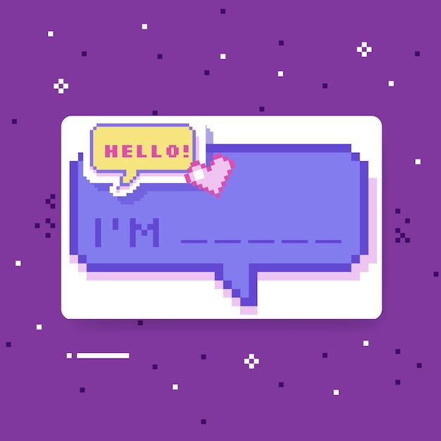 Hello my name is label concept Free Vector