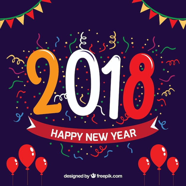 Hello new year 2018 party